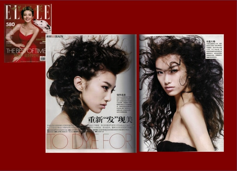 Elle magazine hair by Mandy Wong